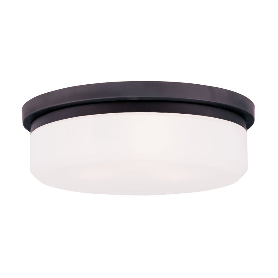 Livex Lighting Stratus 15.5-in W Bronze Flush Mount Light