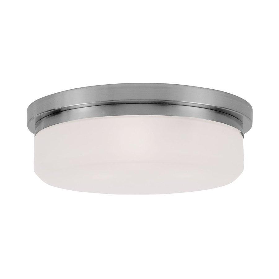 Livex Lighting Stratus 15.5-in W Brushed Nickel Ceiling Flush Mount Light