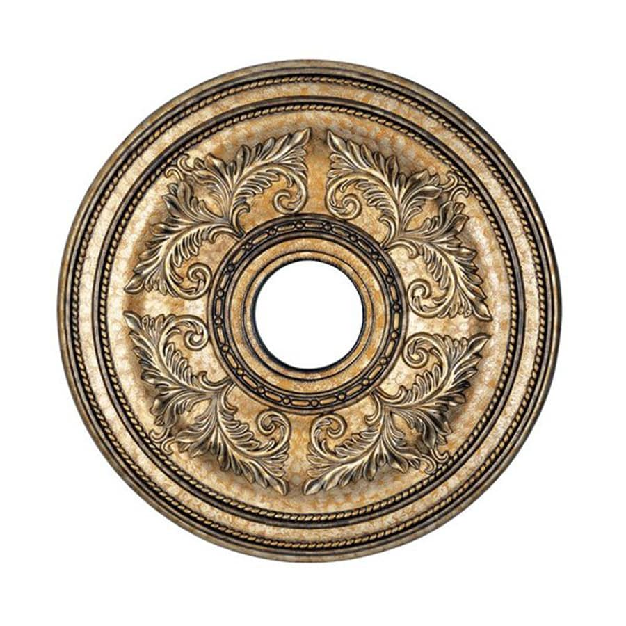 Livex Lighting Vintage Gold Leaf Ceiling Medallion