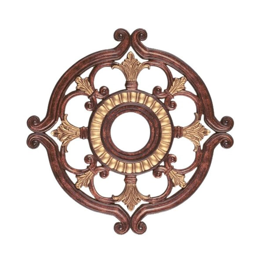Ceiling Light Medallions Lowes : Livex lighting verona bronze ceiling medallion at