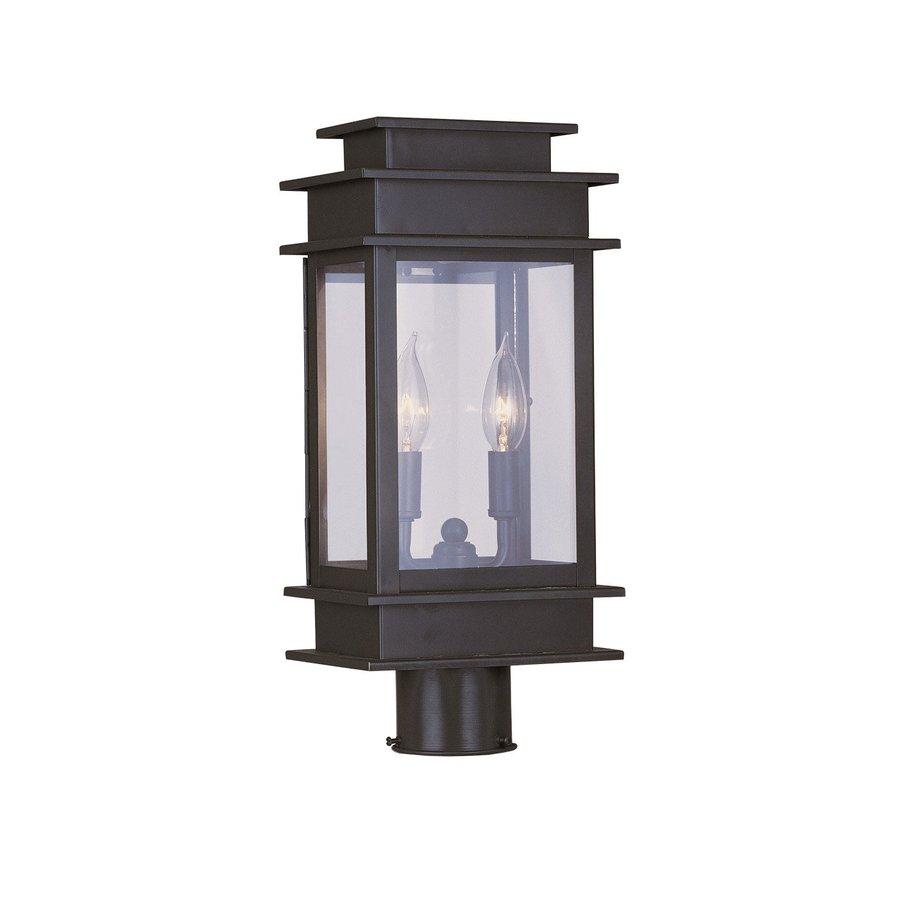 Shop Livex Lighting Princeton H Bronze Post Light At