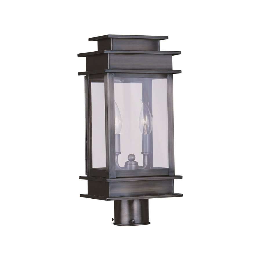 Livex Lighting Princeton 16.75-in H Vintage Pewter Post Light