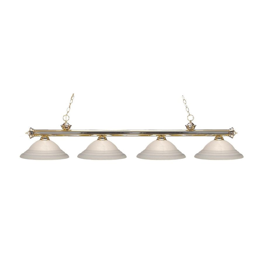 Z-Lite Riviera Polished Brass Pool Table Lighting