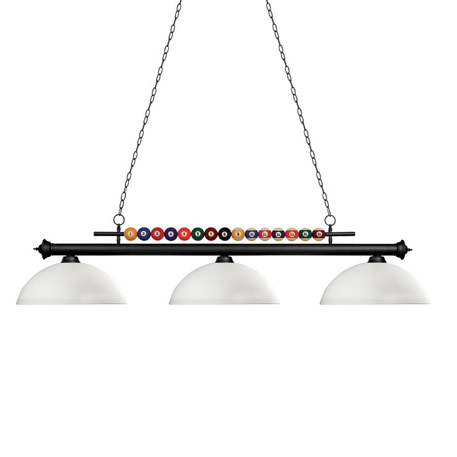 Pool Table Light Black: Z-Lite Shark Matte Black Pool Table Lighting At Lowes.com