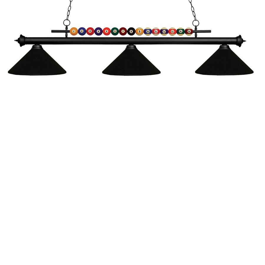 Pool Table Light Black: Z-Lite Matte Black 3-Light Pool Table Lighting At Lowes.com