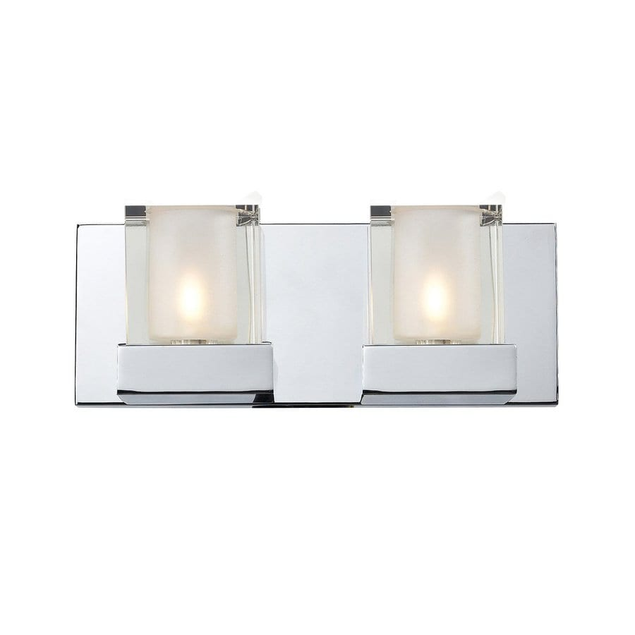 Shop Z-Lite Aster 2-Light Chrome Square Vanity Light at Lowes.com