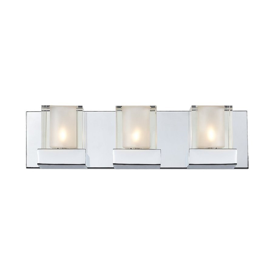 Z-Lite Aster 3-Light 4.33-in Chrome Square Vanity Light