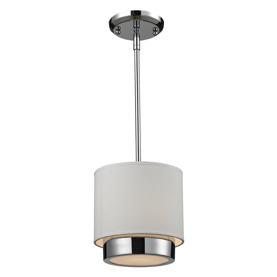 Z-Lite Jade 8-in Chrome Mini Drum Pendant