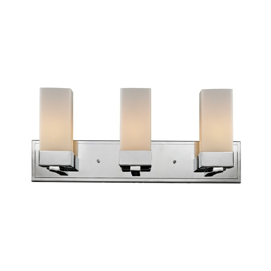 Z-Lite Sapphire 3-Light 9.75-in Chrome Rectangle Vanity Light