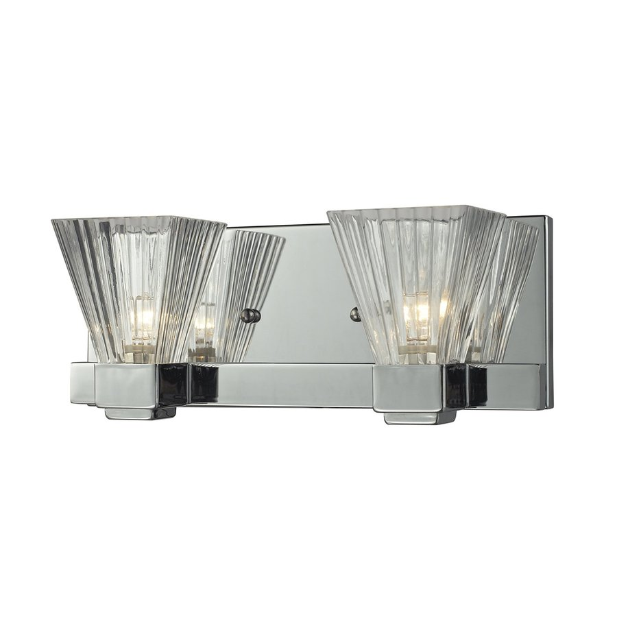 Z-Lite Aster 2-Light 4.5-in Polished Nickel Vanity Light