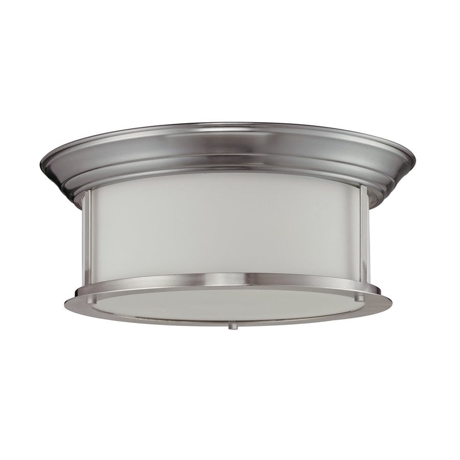 Z-Lite Sonna 15.5-in W Brushed nickel Flush Mount Light