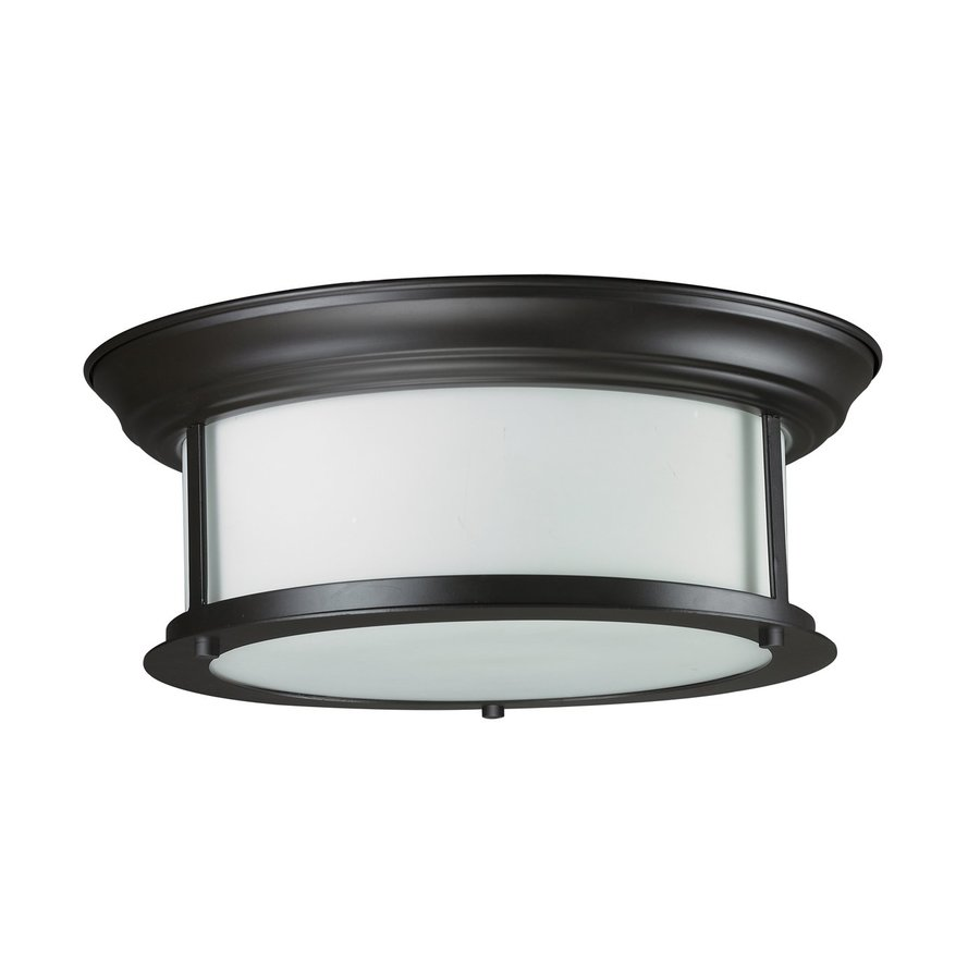 Z-Lite Sonna 13.25-in W Bronze Flush Mount Light