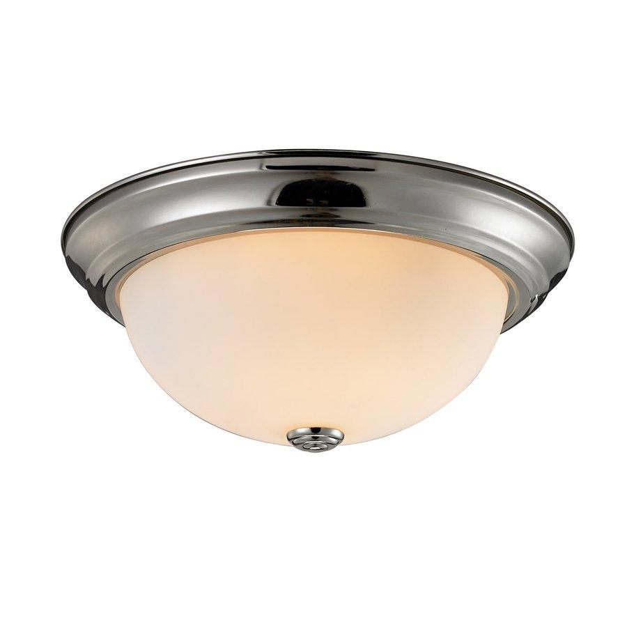 Z-Lite Athena 15-in W Satin Nickel Ceiling Flush Mount Light