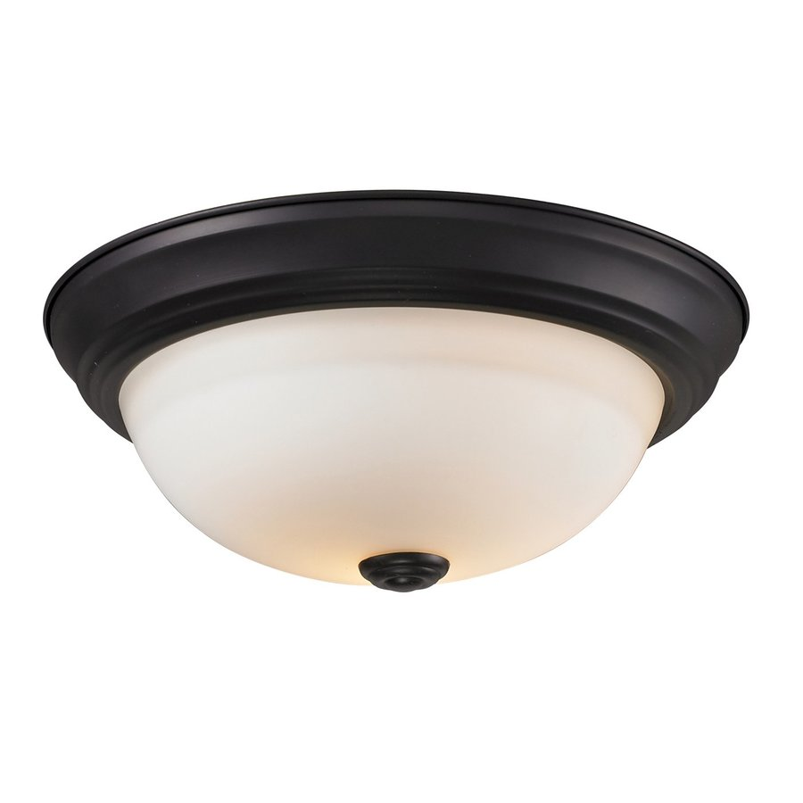 Z-Lite Athena 11.25-in W Bronze Flush Mount Light