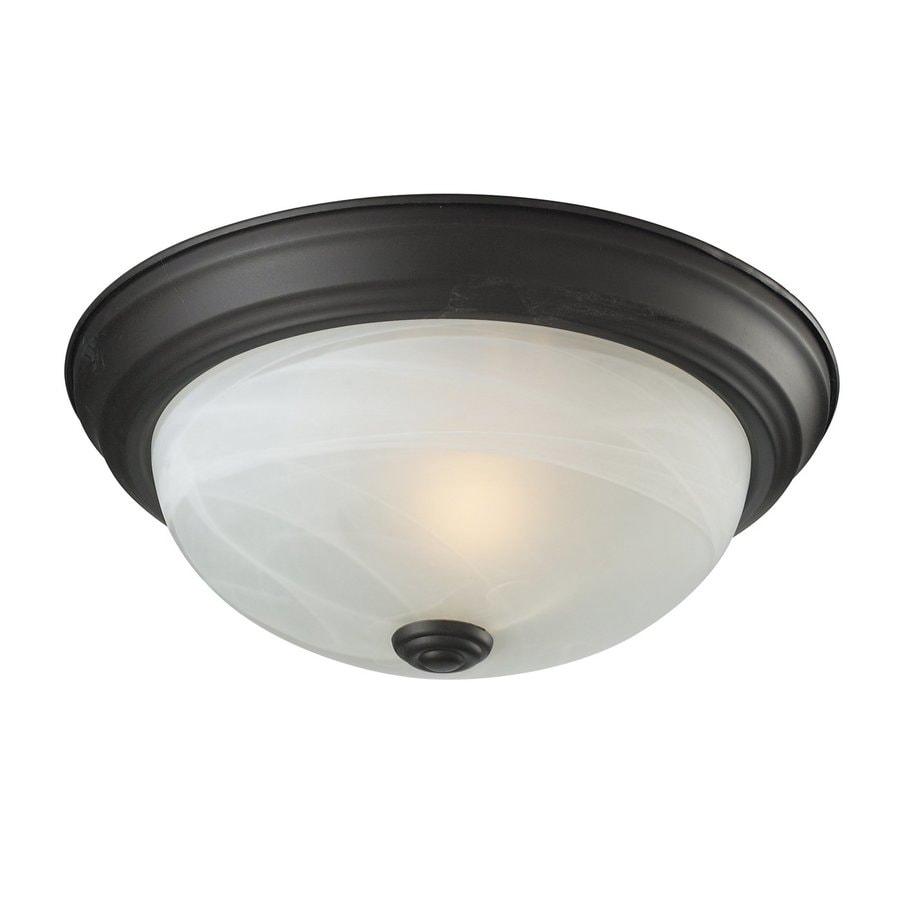 Z-Lite Athena 11.25-in W Bronze Flush Mount Light