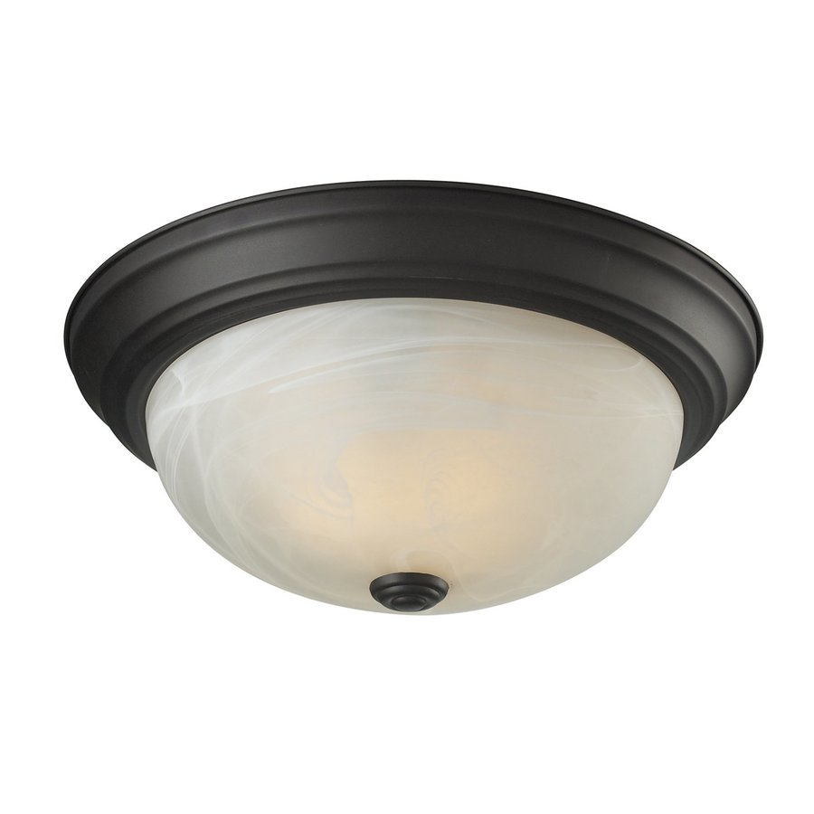 Z-Lite Athena 13-in W Bronze Ceiling Flush Mount Light