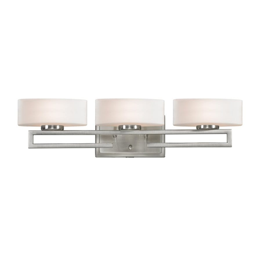 Vanity Light Shade Lowes : Shop Z-Lite Cetynia 3-Light Brushed Nickel Oval Vanity Light at Lowes.com