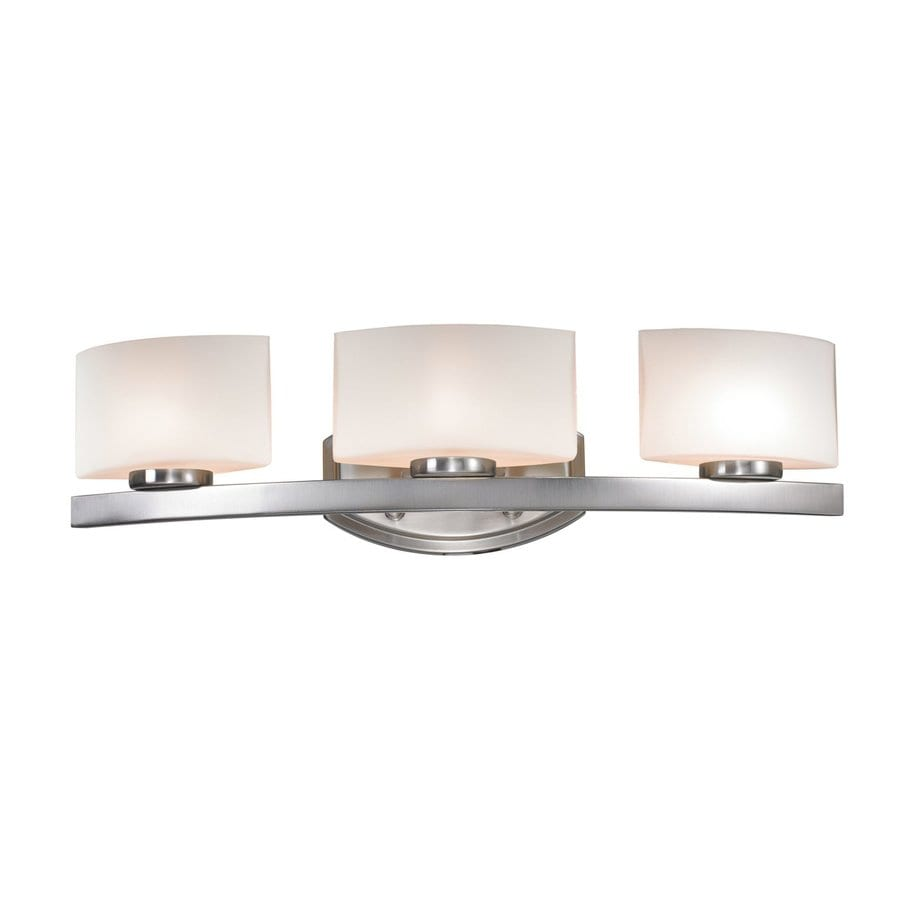 Polished Nickel Bathroom Vanity Light: Shop Z-Lite 3-Light Cetynia Brushed Nickel Bathroom Vanity