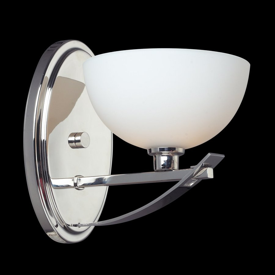 Lowes Chrome Wall Sconces : Shop Z-Lite Ellipse 6.125-in W 1-Light Chrome Arm Hardwired Wall Sconce at Lowes.com