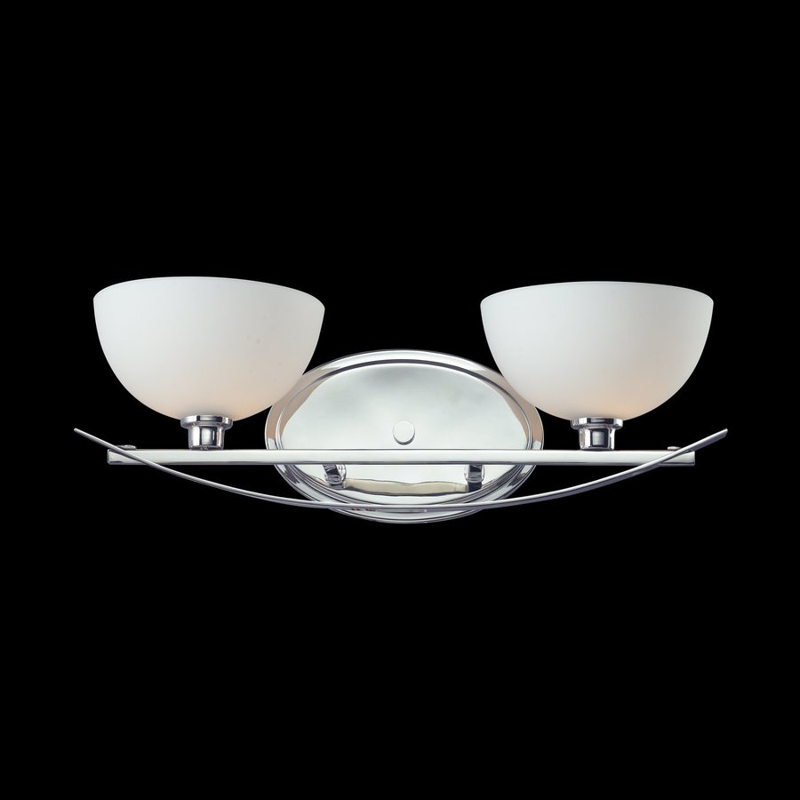 Shop Z Lite 2 Light Elite Chrome Bathroom Vanity Light At