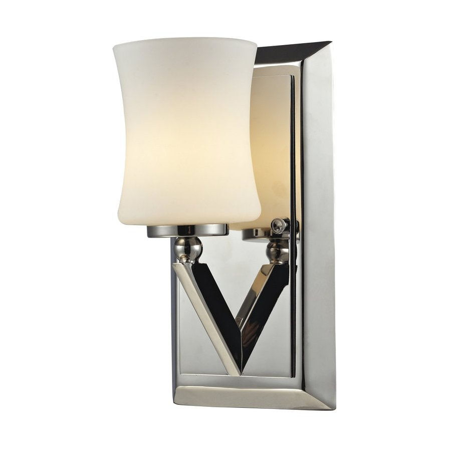 Z-Lite Elite 4.5-in W 1-Light Chrome Arm Hardwired Wall Sconce