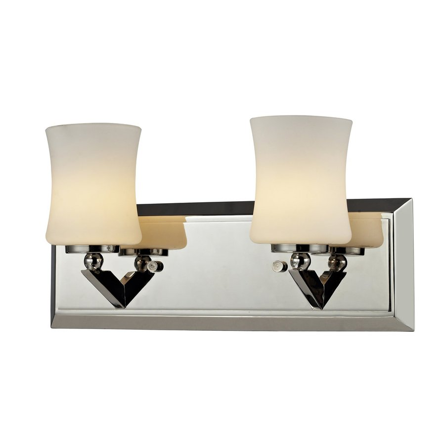 Shop Z-Lite Lotus 2-Light 6.75-in Chrome Vanity Light at Lowes.com
