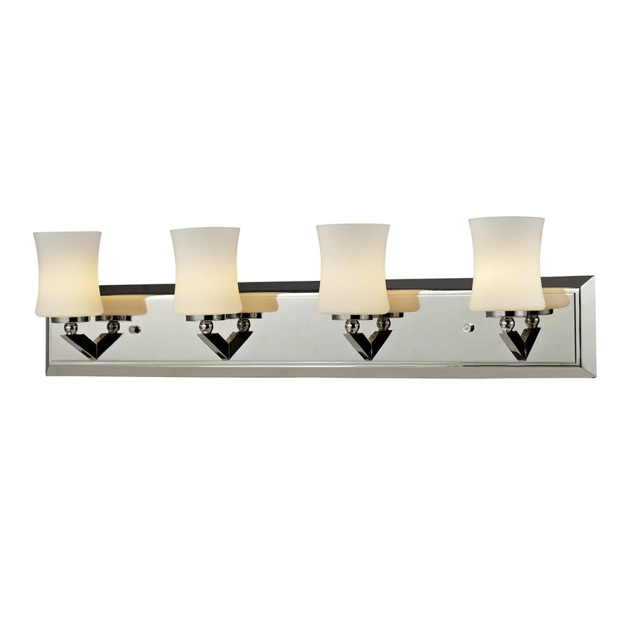 Z-Lite Lotus 4-Light 6.75-in Chrome Vanity Light