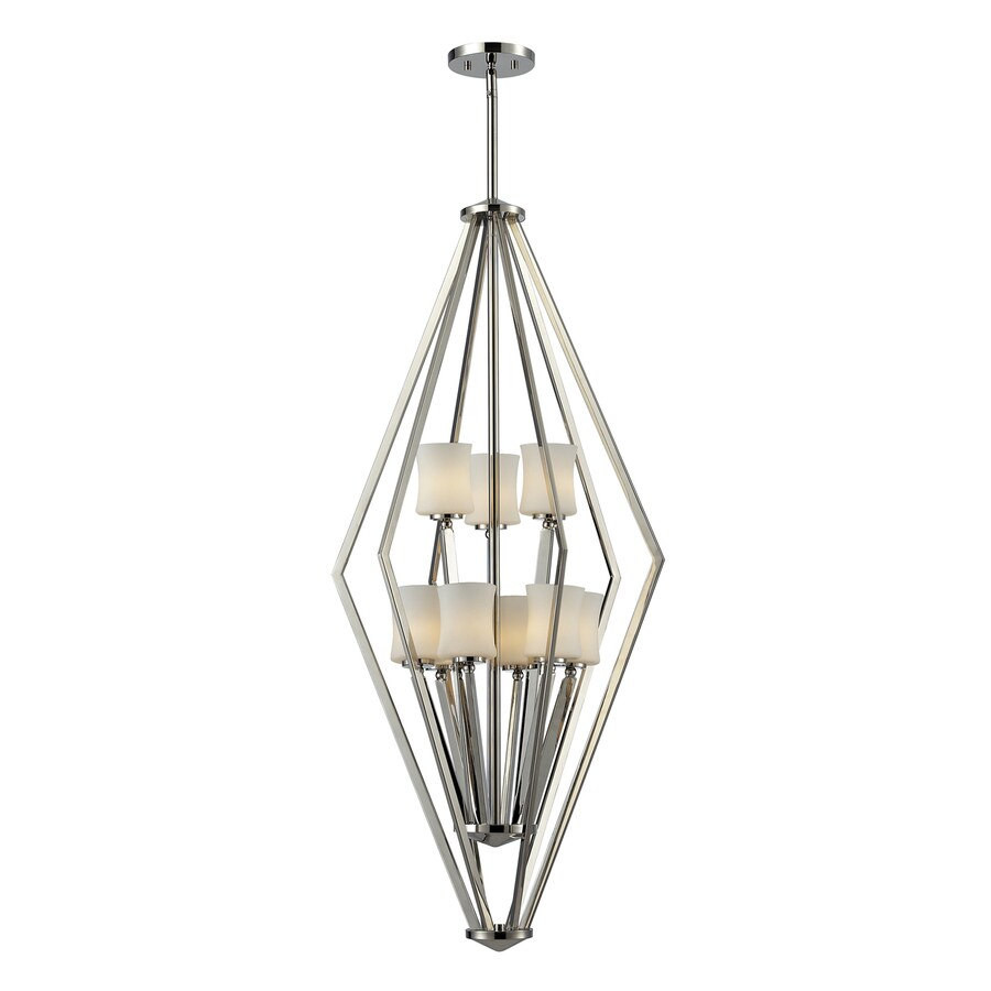 Z-Lite Elite 20.25-in 9-Light Chrome Cage Chandelier