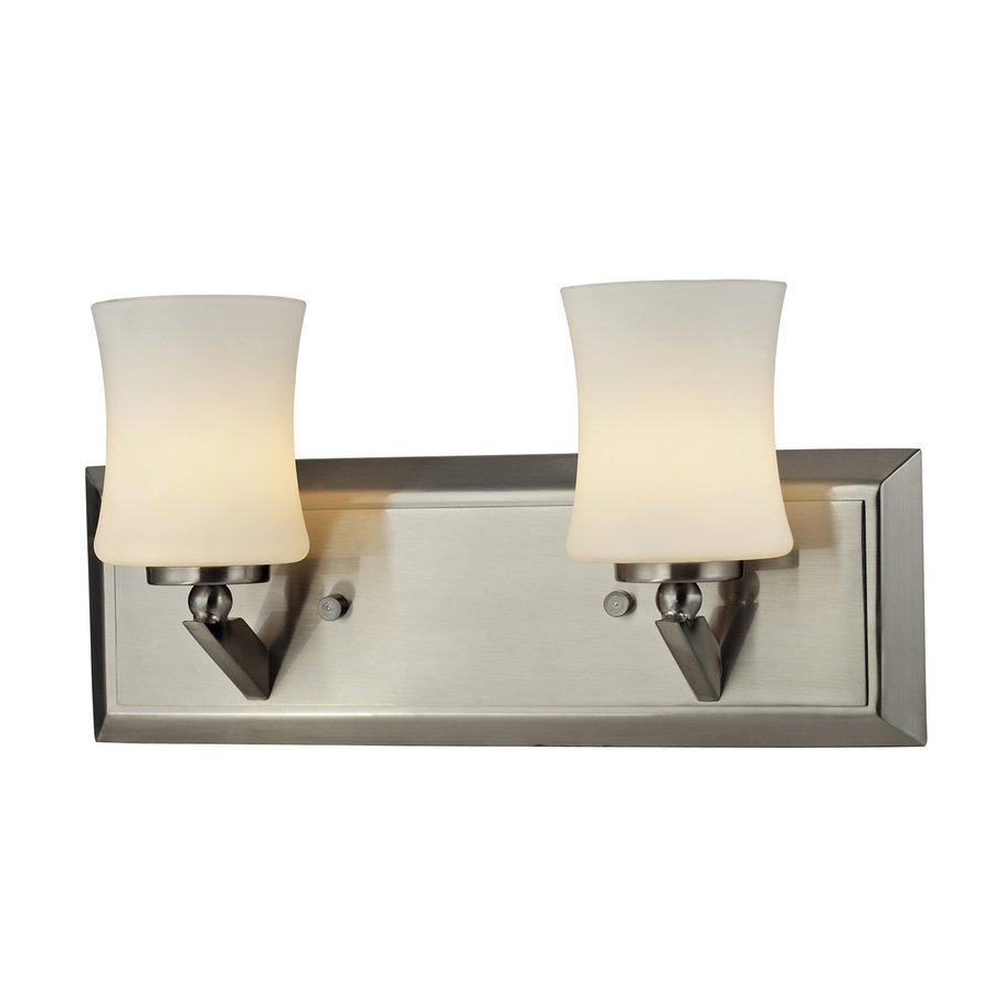 Z-Lite Terra 2-Light 6.75-in Brushed Nickel Vanity Light