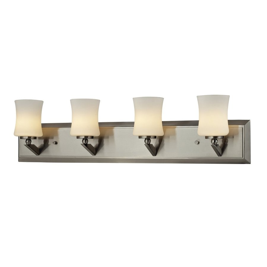 Z-Lite Lotus 4-Light 6.75-in Brushed nickel Vanity Light