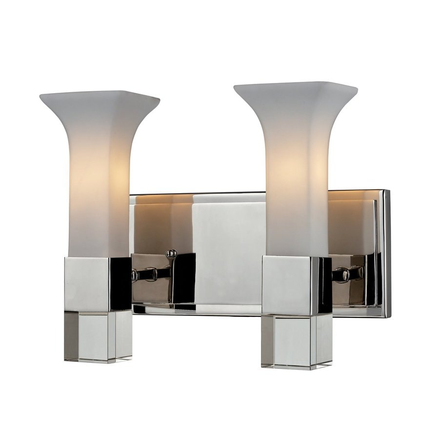 Z-Lite Lotus 2-Light Chrome Geometric Vanity Light