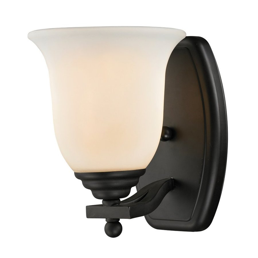 Wall Sconce No Light : Shop Z-Lite Lagoon 7.5-in W 1-Light Matte Black Arm Wall Sconce at Lowes.com