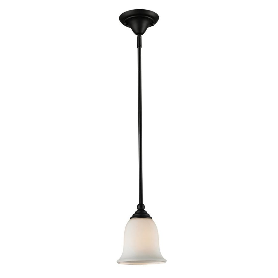 Z-Lite Lagoon 6-in Matte Black Mini Bell Pendant