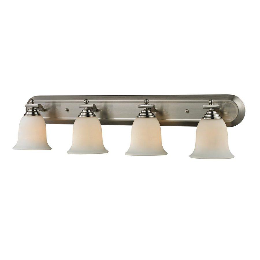 Z-Lite Lagoon 4-Light 8-in Brushed nickel Bell Vanity Light