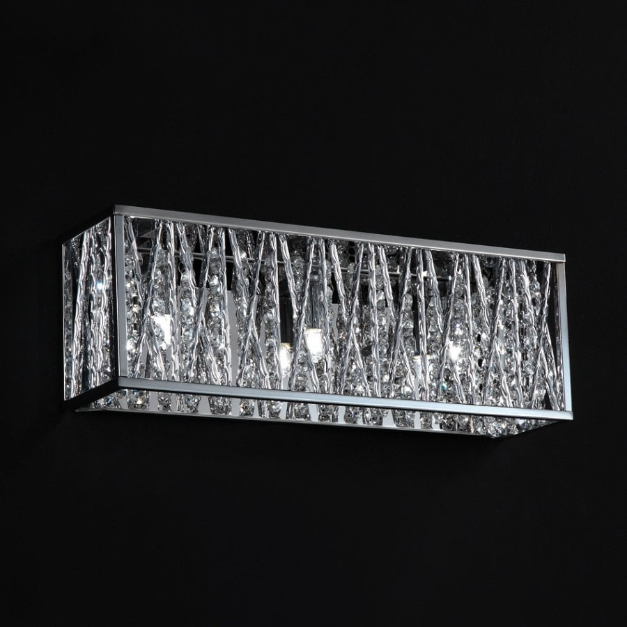 crystal bathroom light fixtures shop z lite 3 light lagoon chrome accent bathroom 17999