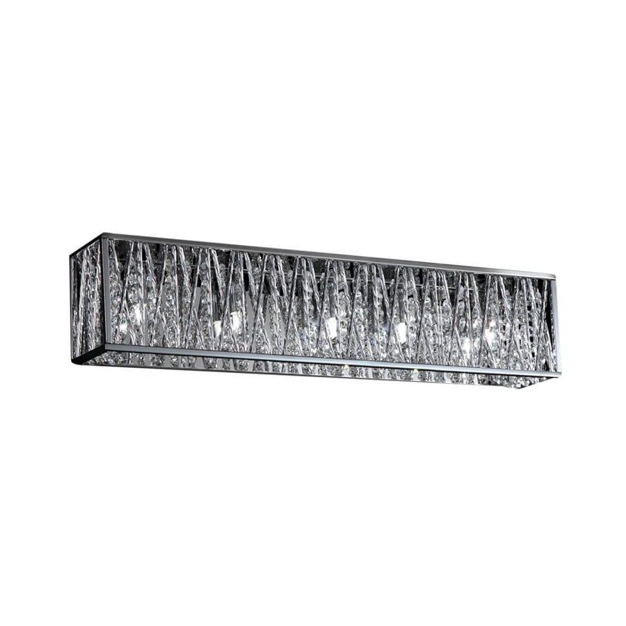 5 Light Bathroom Vanity Light: Shop Z-Lite 5-Light Mirach Chrome Crystal Accent Bathroom