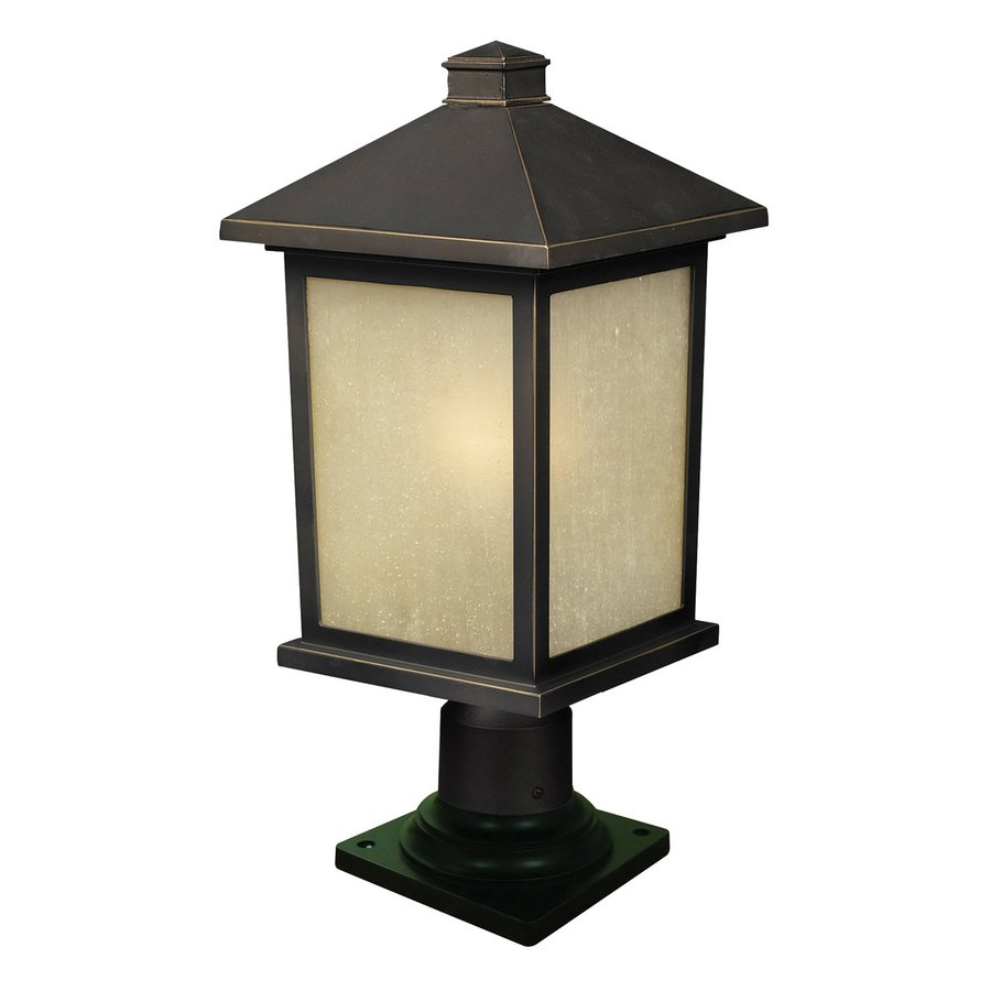 Z-Lite Holbrook 20.25-in H Olde Rubbed Bronze Pier-Mounted Light
