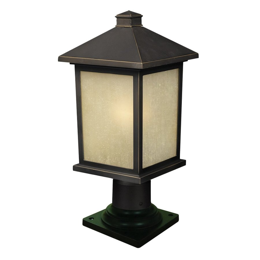 Z-Lite Holbrook 17.25-in H Olde Rubbed Bronze Pier-Mounted Light