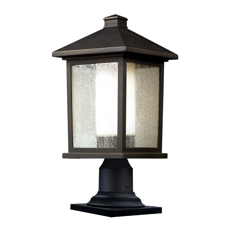 Z-Lite Mesa 20.25-in H Oil Rubbed Bronze Pier-Mounted Light