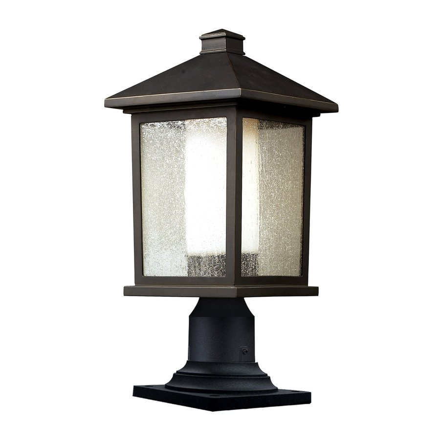 Z-Lite Mesa 15.5-in H Oil Rubbed Bronze Pier-Mounted Light