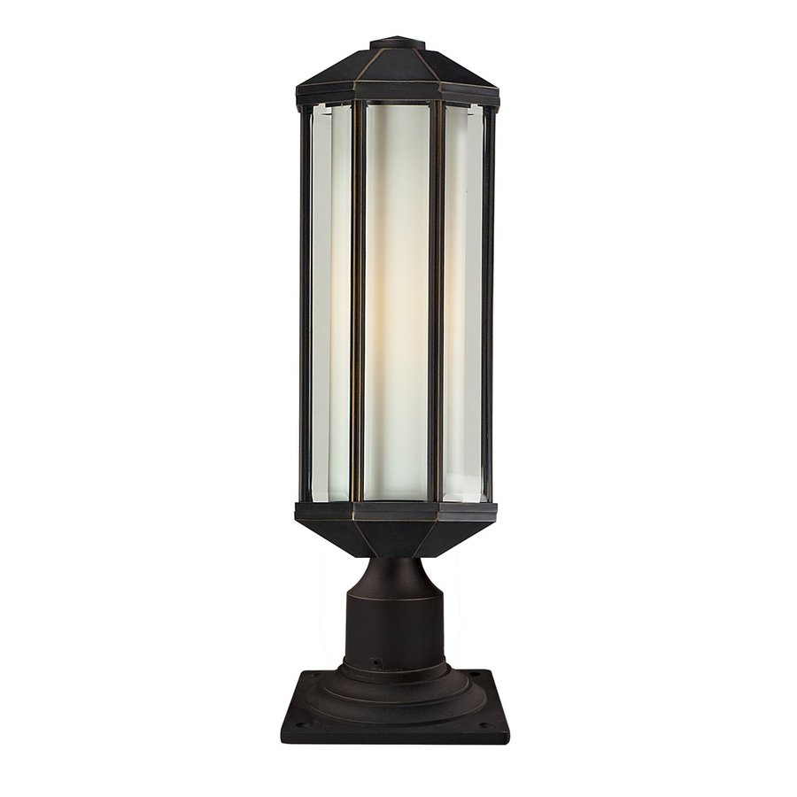 Z-Lite Cylex 20.8-in H Oil Rubbed Bronze Pier-Mounted Light