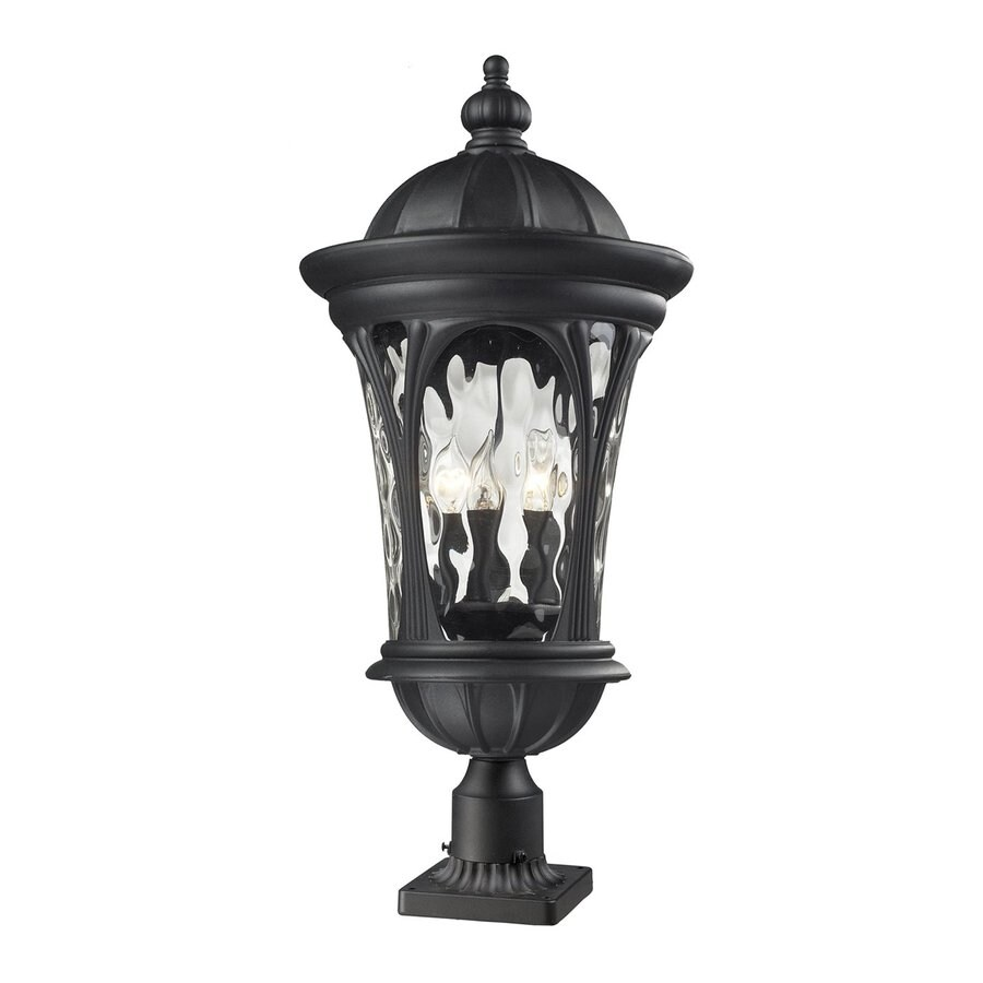 Z-Lite Doma 30-in H Sand Black Pier-Mounted Light