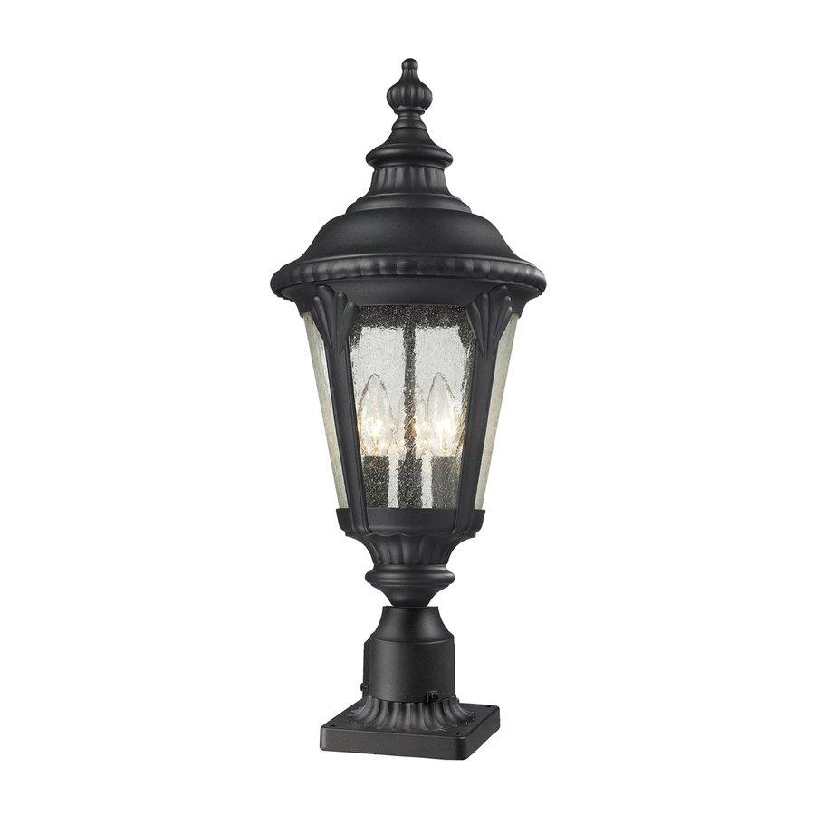 Z-Lite Medow 26.75-in H Black Pier-Mounted Light