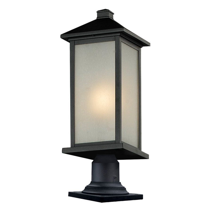 Z-Lite Vienna 25.25-in H Black Pier-Mounted Light