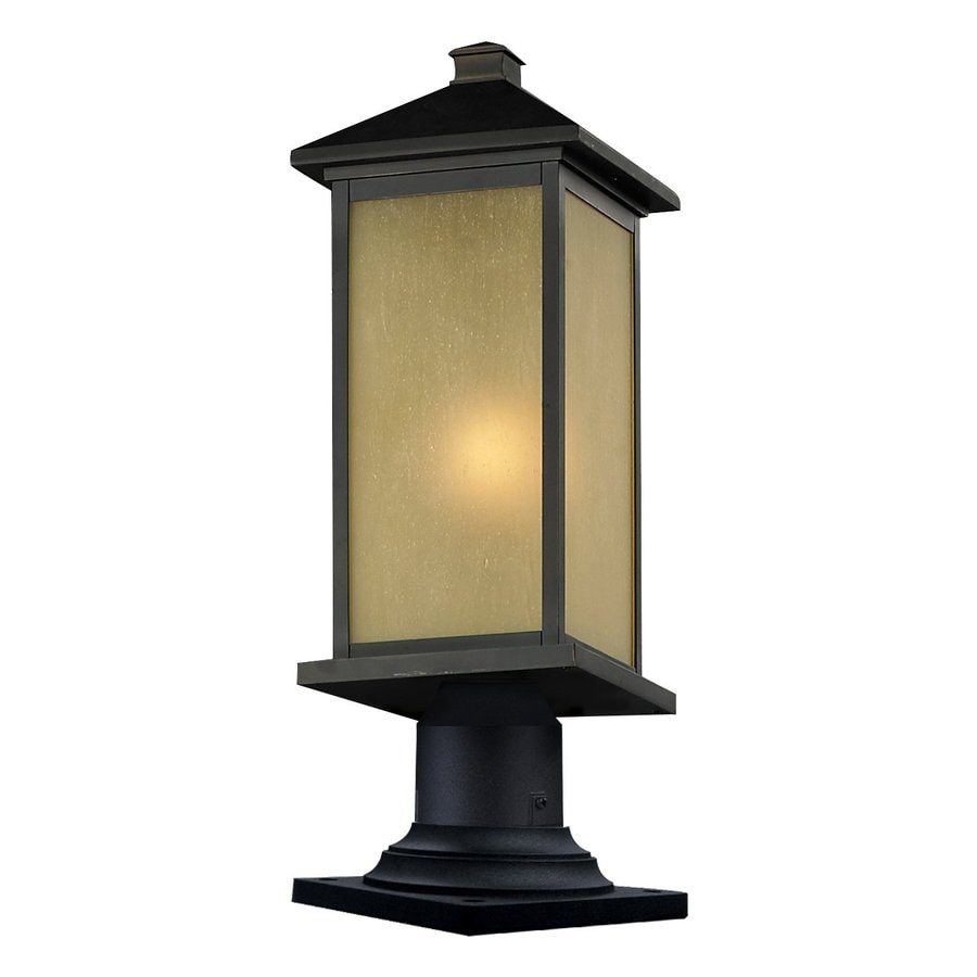 Z-Lite Vienna 25.25-in H Oil Rubbed Bronze Pier-Mounted Light