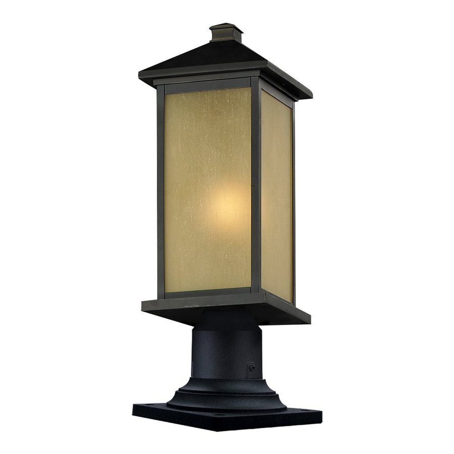 Z-Lite Vienna 23.25-in H Oil Rubbed Bronze Pier-Mounted Light