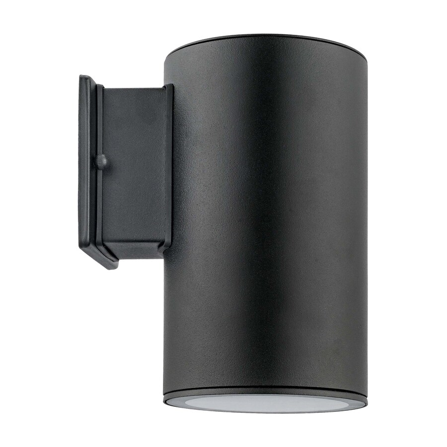 EGLO Ascoli 5-in W 1-Light Black Arm Hardwired Wall Sconce