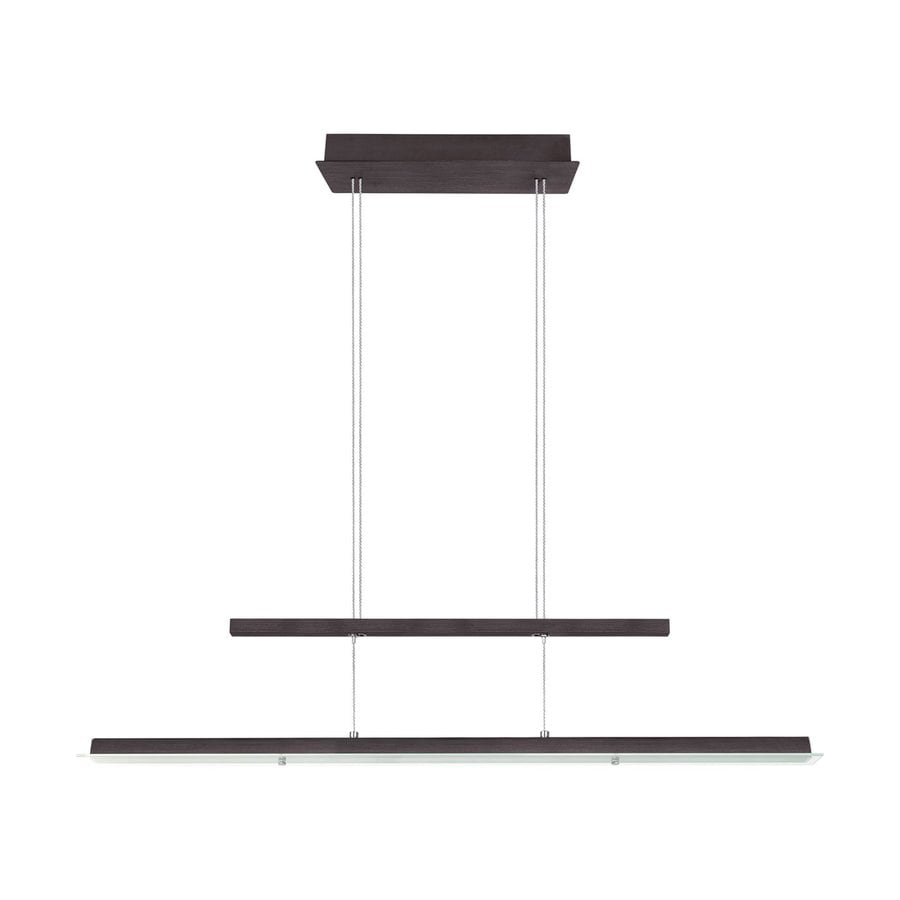EGLO Rufo 4.87-in W Black/Silver LED Kitchen Island Light with Clear Shade