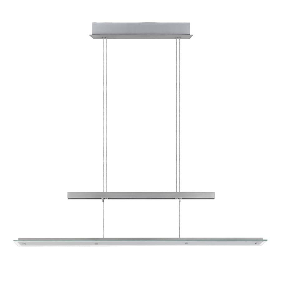 Shop EGLO Agosta 4 875 in W Silver LED Kitchen Island Light with Clear