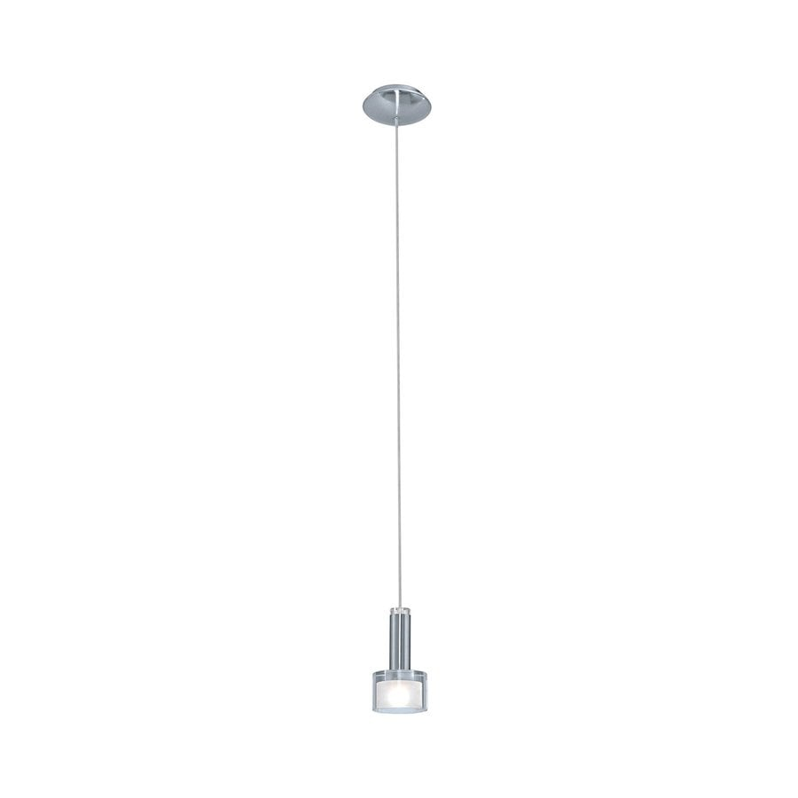 EGLO Fabiana 3.5-in Chrome Mini Clear Glass Bell Pendant